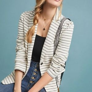 Antropologie Francoise Knit striped Blazer sz SP